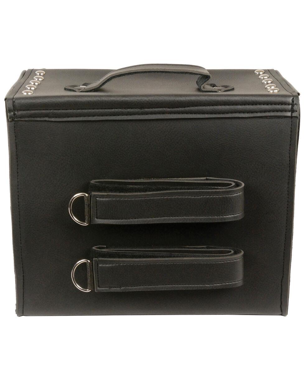 Milwaukee Leather Medium Studded PVC Sissy Bar Carry Bag, Black, hi-res