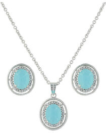 Montana Silversmiths Women's Haloed Summer Skies Jewelry Set, , hi-res