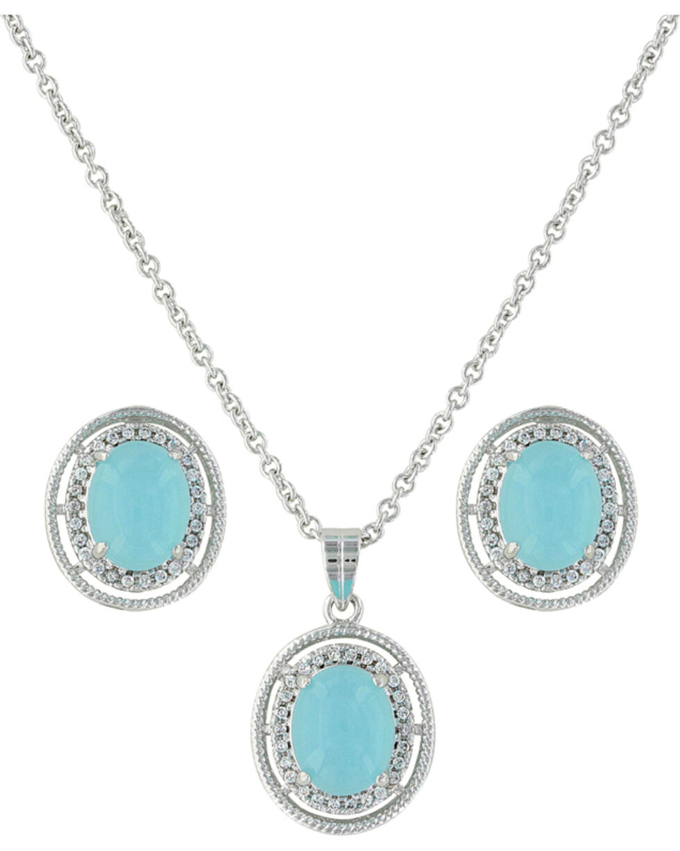 Montana Silversmiths Women's Haloed Summer Skies Jewelry Set, Silver, hi-res
