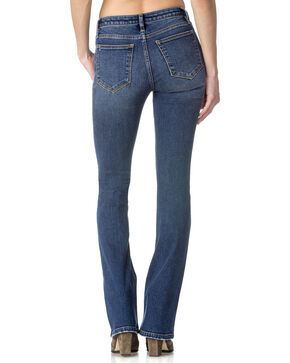 Miss Me Women's Indigo Distressed Jeans - Boot Cut , Indigo, hi-res
