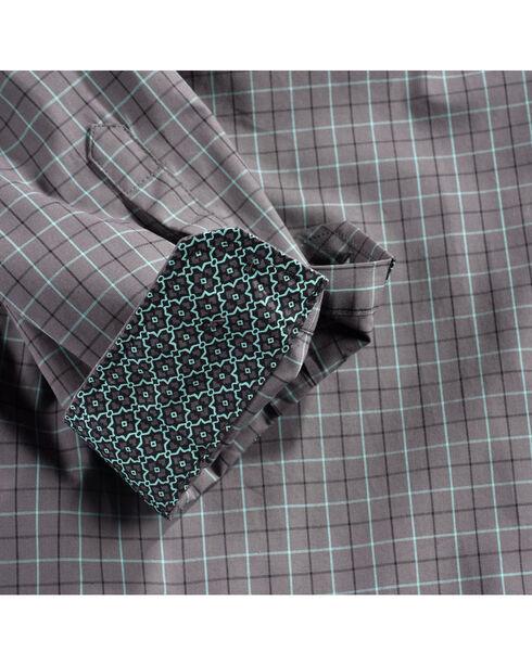 Cinch Men's Grey Plaid Print Long Sleeve Western Shirt - Big, Grey, hi-res