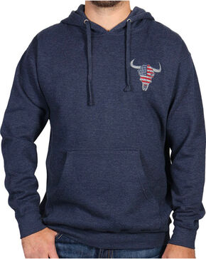 Cody James® Men's Bull Flag Sweatshirt, Navy, hi-res