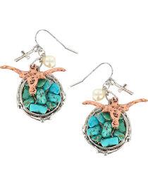 Shyanne® Women's Longhorn Hook Earrings, , hi-res