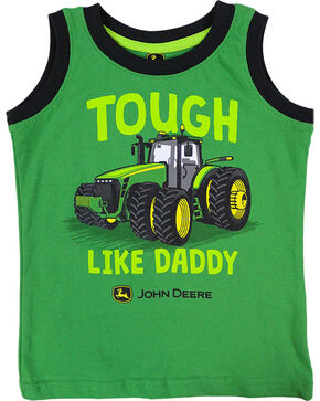 "John Deere Toddler Boys' ""Tough Like Daddy"" Tank Top , Green, hi-res"