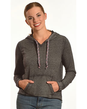 Derek Heart Women's Gabby's Burnout Hoodie, Black, hi-res