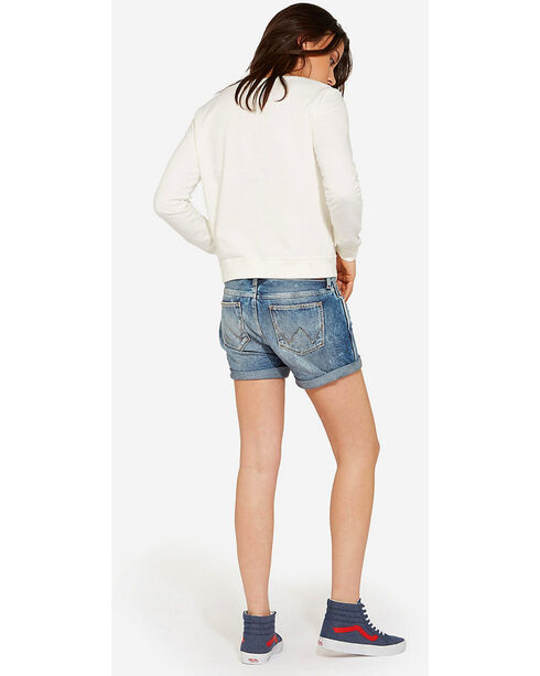 Wrangler Women's 70th Anniversary Boyfriend Shorts, Indigo, hi-res