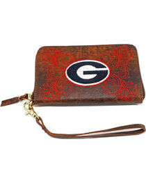 Gameday Boots University of Georgia Leather Wristlet, Brass, hi-res
