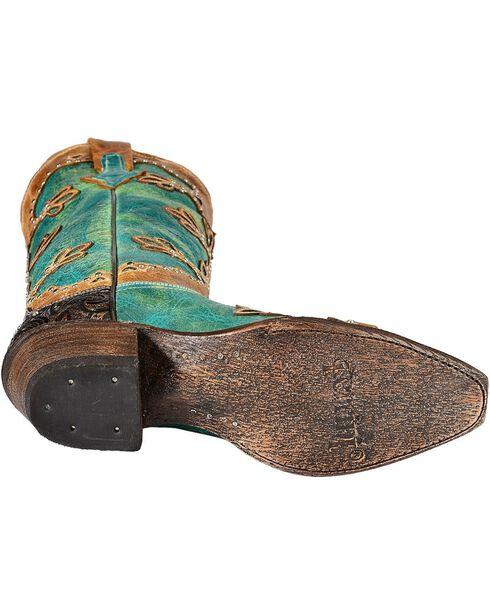 Ferrini Women's Embossed Diva Western Boots, Turquoise, hi-res