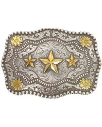 Cody James® Men's Triple Star Belt Buckle, , hi-res
