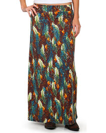 Ariat Women's Feathered Out Maxi Skirt, , hi-res