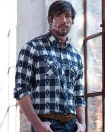 Ryan Michael Men's Black Ikat Gingham Plaid Shirt , , hi-res