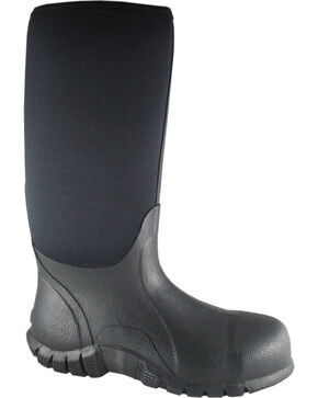 Smoky Mountain Men's Amphibian Waterproof Work Boots - Steel Toe, Black, hi-res