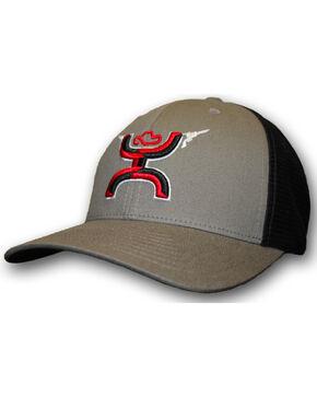 HOOey Men's Gunner FlexFit Baseball Cap, Grey, hi-res