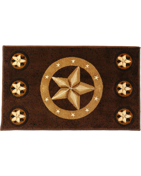 World RUG Outlet Texas Ranger Star Rug, Chocolate, hi-res
