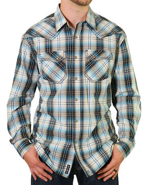 Moonshine Spirit Men's Distiller Western Shirt, Brown, hi-res