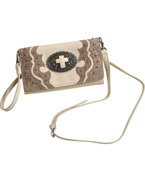 Shyanne® Women's Cross Wallet Crossbody, Ivory, hi-res