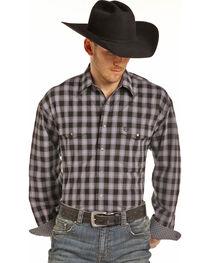 Panhandle Men's Black Check Print Shirt, , hi-res