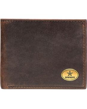 Jack Mason Men's Dallas Cowboys Legacy Traveler Wallet , Brown, hi-res