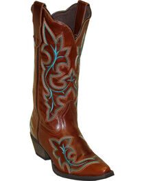 Rawhide by Abilene Fancy Stitch Embroidered Western Boots - Snip Toe, , hi-res
