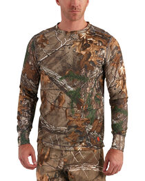 Carhartt Men's Base Force Extremes Cold Weather Camo Crewneck Shirt, , hi-res