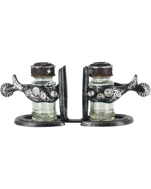 Western Moments Salt & Pepper and Napkin Caddy Set, Brown, hi-res