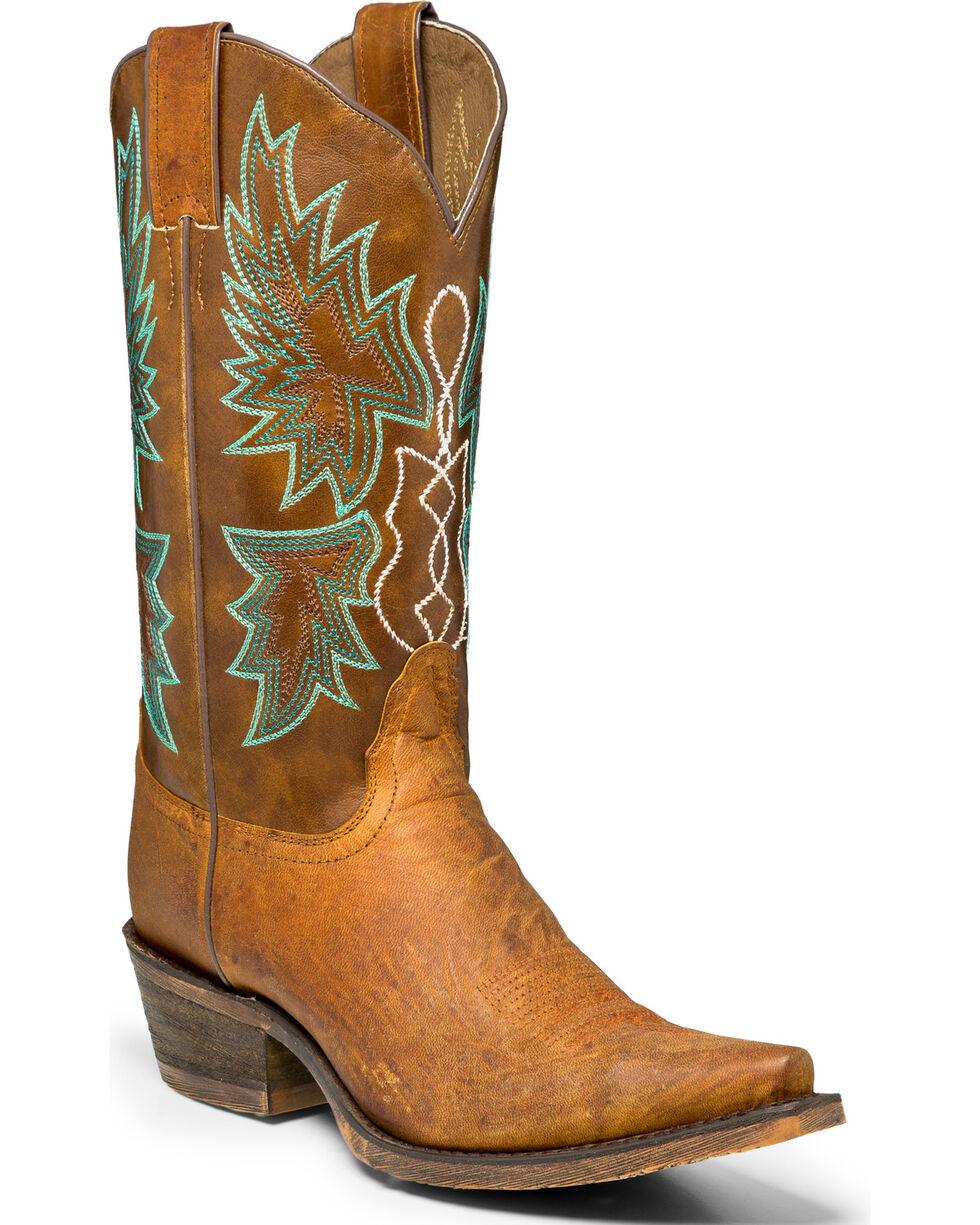 Nocona Women's Stacey Snip Toe Western Boots, Tan, hi-res