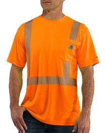 Carhartt Men's Orange Force High-Visibility Class 2 T-Shirt - Big, , hi-res