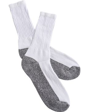 Boot Doctor Super Crew Boot Socks - 3-Pack, White, hi-res