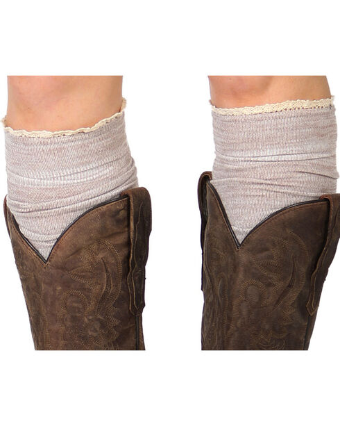 Shyanne Women's Knee-High Boot Socks, Heather Grey, hi-res