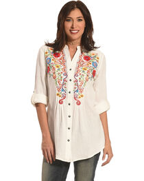Tasha Polizzi Women's Emmylou Embroidered Shirt , , hi-res