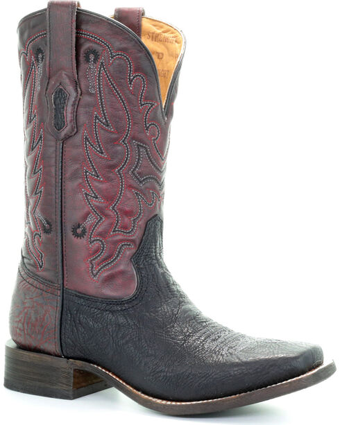 Corral Men's Embroidered Tyson Durfey Performance Line TD Boots - Square Toe, Black, hi-res