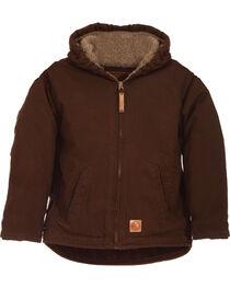 Berne Toddler Boys' Washed Sherpa-Lined Hooded Jacket, , hi-res