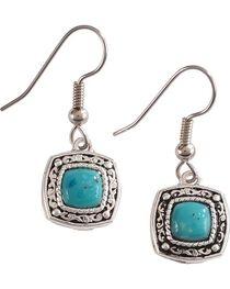 Montana Silversmiths Women's Blue Earth Hook Earrings, , hi-res