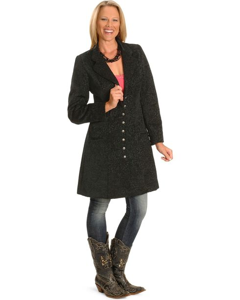 Scully Women's Chenille Frock Coat, Black, hi-res