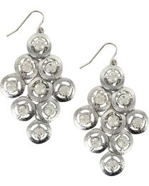 Shyanne® Women's Silver Rhinestone Chandelier Earrings, , hi-res