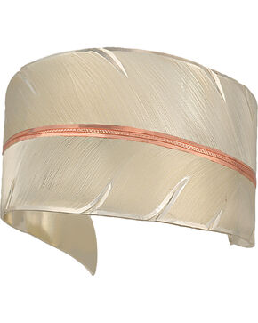 Montana Silversmiths Women's Feather Cuff Bracelet, Silver, hi-res