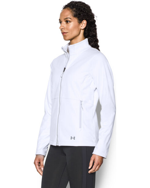 Under Armour Women's Coldgear Infrared Softershell Jacket, White, hi-res