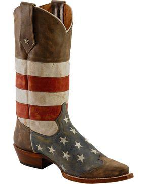 Roper Men's Americana Flag Snip Toe Western Boots, Blue, hi-res