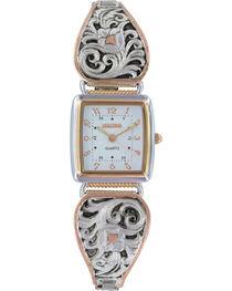 Montana Silversmiths Women's Leathercut Rose Gold Watch, , hi-res