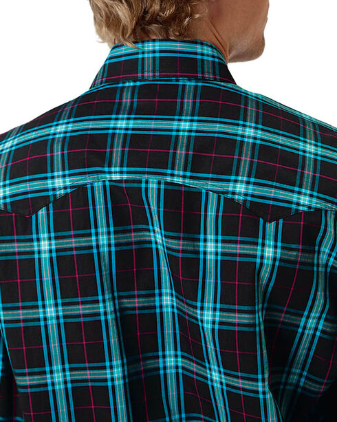 Roper Men's Check Patterned Long Sleeve Shirt, Black, hi-res