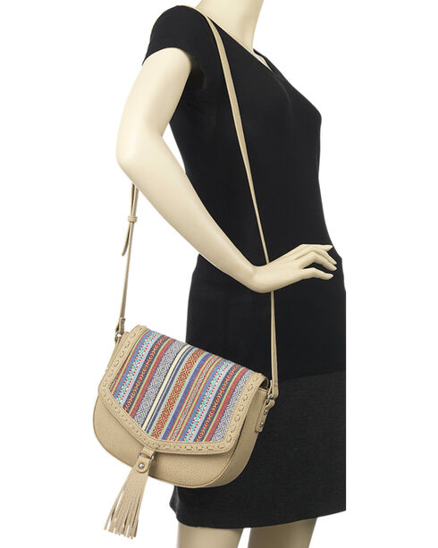 Bandana by American West Women's Boho Denim Flap Crossbody Bag, , hi-res