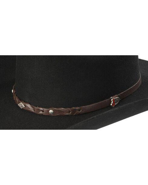 Justin Lone Star 2X Wool Cowboy Hat, Black, hi-res