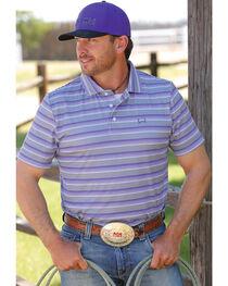 Cinch Men's Grey Short Sleeve Polo , , hi-res