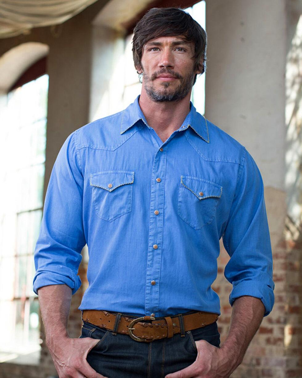 Ryan Michael Men's Indigo Whip Stitch Gabardine Shirt , Indigo, hi-res