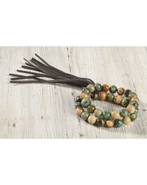 Jewelry Junkie Women's African Turquoise and Picture Jasper Bracelet , , hi-res