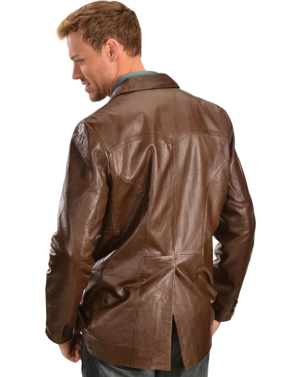 Scully Lamb Leather Blazer - Reg , Chocolate, hi-res