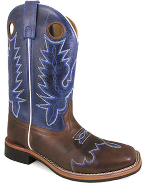 Smoky Mountain Women's Delta Western Boots - Square Toe , Brown, hi-res