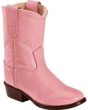 Old West Toddler Girls' Cowboy Boots, Pink, hi-res