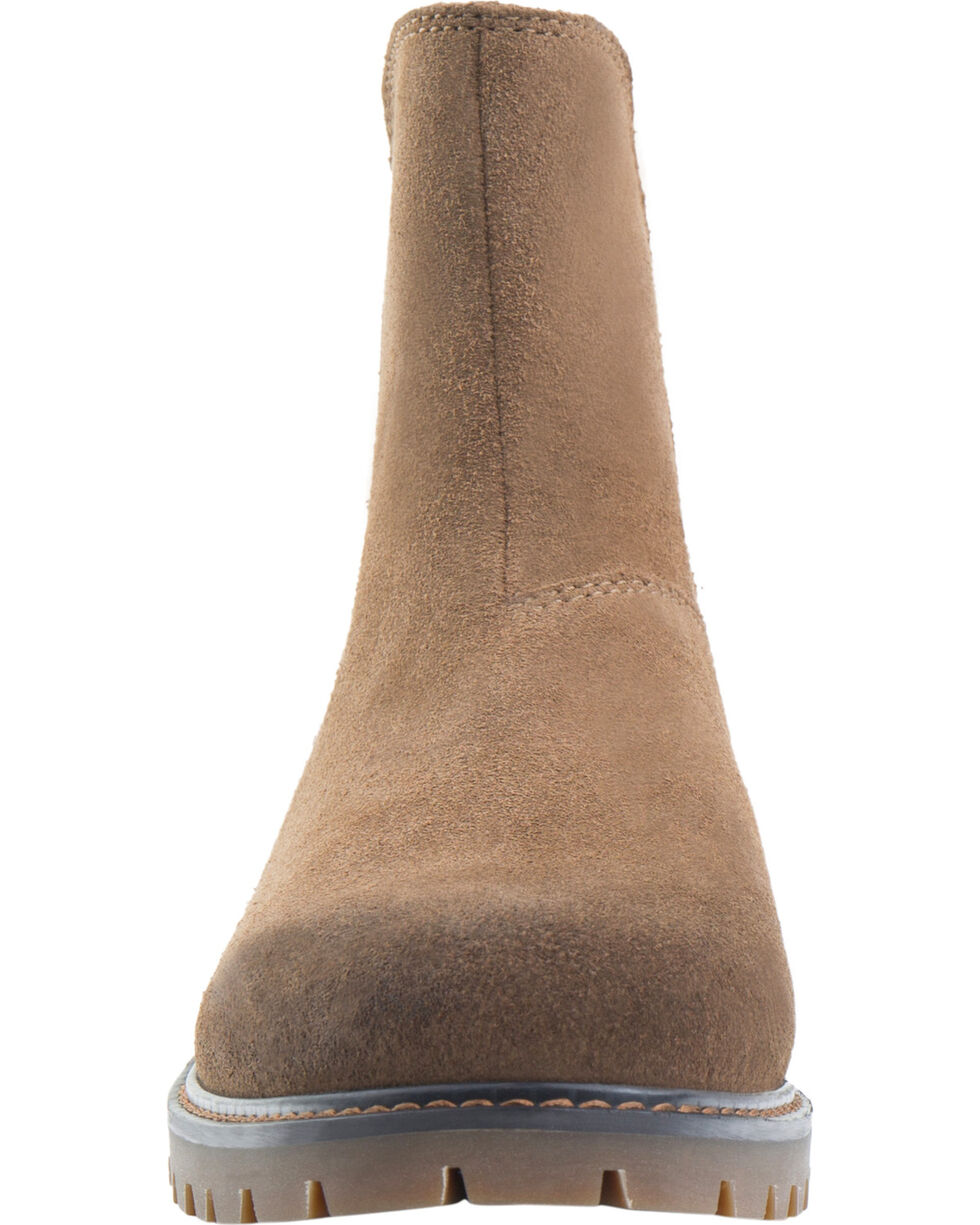 Eastland Women's Khaki Suede Ida Chelsea Boots , Tan, hi-res