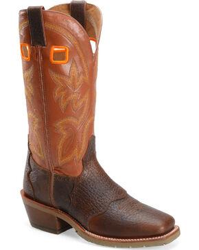 """Double H Men's 14"""" Buckaroo Western Boots, Brown, hi-res"""